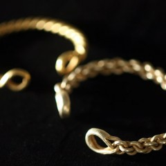 Iron Age Gold Torcs, a twisted gold arm bracelet