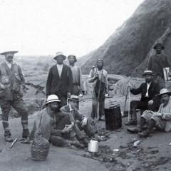 Several explorers at St Vincents, Caribbean