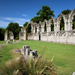 St Mary's Abbey in the York Museum Gardens (Photo by John Potter)