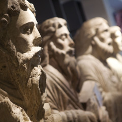 Stone statues at the Yorkshire Museum. Photo by Gareth Buddo