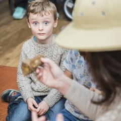A young visitor at the Yorkshire Museum