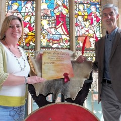 Sarah Maltby and Mike Woodward sign a Viking trade agreement - June 2016