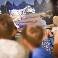 Children exploring the Jurassic Exhibit