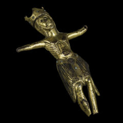 St Mary's Figure of Christ, a golden figure of Christ as he is being crucified.