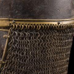 York Helmet, chainmail fringe on back of helmet.